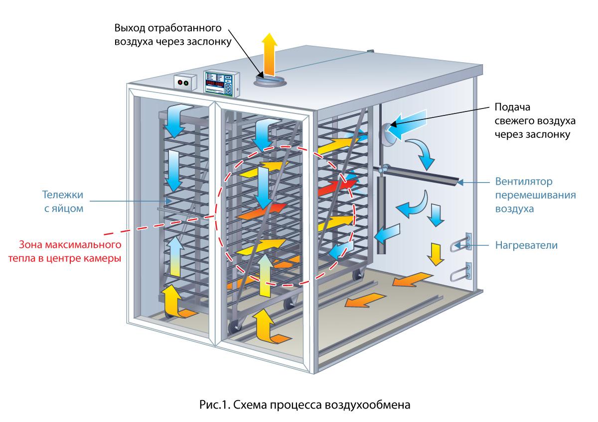 Схема процесса воздухообмена